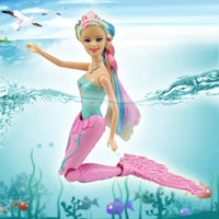 Wholesale 2015 Hot Swimming Swim Magic Mermaid Doll Kids anime classic toys bath dolls toy for girls