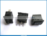 Wholesale 30 Rocker Switch KCD1 on Off on Black pin A A