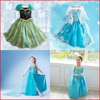 Wholesale 2014 Girls Frozen Party Dresses Queen Elsa Princess Dresses Kids Sequin Dress Baby Cosplay Christmas Children Dresses