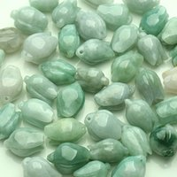 Wholesale Burma jade DIY accessories natural A jade cargo magnolia flower pendant handmade jewelry jade accessaries