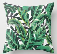 Cheap Tropical Glam Banana Leaf Print (two sides)Throw Pillow Cases cushion cover for 12x12 14x14 16x16 18x18 20x20 24x24 inch