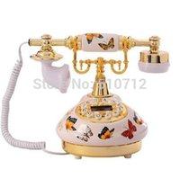 antique french porcelain - Golden Eagle Corded Antique Porcelain French Butterfly Flowers telephone
