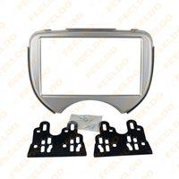 Wholesale 2DIN Car Radio Stereo Fascia Panel Refitting Frame Facia Trim Mount Kit For Nissan March Micra present