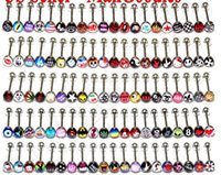 Wholesale Body Jewelry Piercings Stainless Stee Tongue ring Lip Piercing Mix many Logo