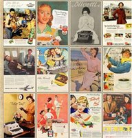 advertising values - The value of Europe and the United States in retro poster Postcard English nostalgic old advertising cards set