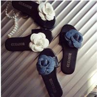 Wholesale 2 Colors Summer Girls Elegant Camellia flower Slipper NEW Children fashion Shoes Girls Sandals B001