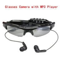 al por mayor cámara dvr gafas de sol dv-Gafas de sol de la cámara oculta espía grabadora de vídeo mini DV con MP3 Deportes del jugador Gafas de sol DVR videocámara