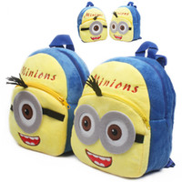 Wholesale Despicable Me Minions baby Girls Boys mini yellow soft plush Backpacks for T cartoon bag put the cady dolls backpack birthday gift