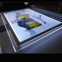 advertising sheet - LED Wall Mounted Acrylic Sheet Crystal Frame Light Box for Advertising Display