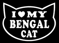 bengal kittens - Car Stickers I Love My Bengal Cat Sticker For Car Truck Rear Windshield Breed Kitten Heart Cute Tiger Gift