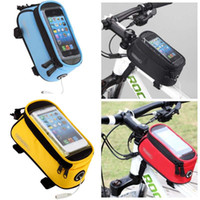 Wholesale Roswheel Waterproof Bike bags top tube Bicycle bag Cycling Frame Tube Panniers quot quot quot Touchscreen Phone Case