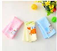 Wholesale High quality New Cartoon Pattern soft pure cotton baby saliva towel Toddler Newborn hand towel square Scarf