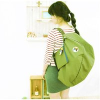 Wholesale 4 colors New Women Men Folding Shoulder Bag waterproof Backpack multi function Outdoor Travel Bags Storage Bags IC641897