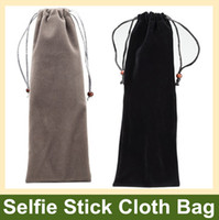 Wholesale Soft Portable Selfie Stick Flannel Cloth Bag Sleeve Pouch for Selfie Stick Monopod Flashlight and Other Similar Size