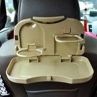 Wholesale ABS plastic beverage frame folding auto tray Useful Convenient backseat car cup beverage frame With Multiple function
