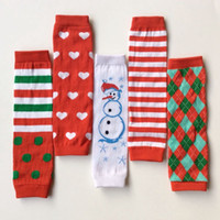 Wholesale Christmas children Christmas cute red stripe heart red Snowman Leg Warmers kids leggings adult arm warmer hot sale good quality Pair