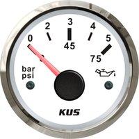 Wholesale 52mm Oil pressure gauge bar for marine boat stainless steel bezel LED backlight white face
