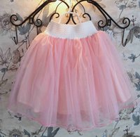 japanese dress style - Japanese Style Girls Bust Dress Spring Candy Color Children Cake Bubble Dresses Tulle Pleated Kids TUTU Short Skirt Pink Green K3688 L