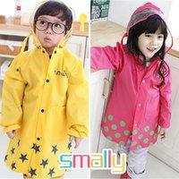 Wholesale Smally Super Cute Cartoon Baby Child Raincoat Nylon Rain Coat Waterproof Cloak Boys And Girls Poncho