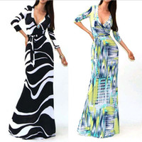Wholesale 2015 Fashion New Maxi Dresses for Womens Summer Party Evening dress Clothes V Neck Sexy Floral Printed Dresses Women Casual dresses xl