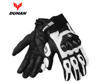 Wholesale DUHAN Motorcycle leather gloves Male full finger gloves Off road racing gloves carbon fiber Motorbike gloves Drop resistance M L XL XXL