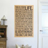 animal quotes inspirational - This your Life inspirational words kraft paper posters wall stickers room decor home decal retro quotes mural art home decoration
