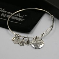 amber charm bracelet - HOT SALE Alex and Ani Bangle Bracelet for Women with Cute Charms mm fashion bangles with free box and bag