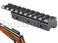 Wholesale New CNC machining Dovetail Weaver Picatinny Rail Adapter mm to mm Tactical Scope Extend Mount