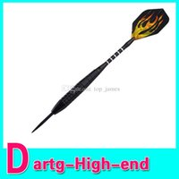 Wholesale Cool Laser Style Flame Pattern Sharp Tungsten plated Iron Hard Darts Black Golden High Quality
