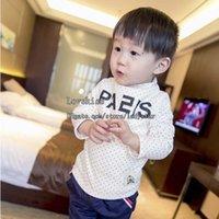 Wholesale Baby Shirt Children Clothes Kids Clothing Boys Shirt Children T Shirts Fashion Winter Long Sleeve T Shirt Cotton Shirts Toddler Shirt L43482