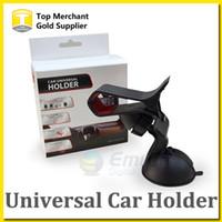 Parabrisas coche montaje soporte soporte cúpula negro universal para el iPhone 6 Plus Sumsang Smart teléfono PDS GPS cámara grabadora con paquete por menor
