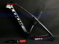 mtb bike frame - 2015 Newest black white red mountain carbon bike frame frameset ER XS S with stem fork seat post MTB carbon frames