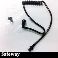 acoustic earbuds - Detachable black air tube with earbuds for two way radio acoustic tube earpiece replacement