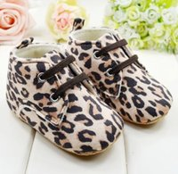 Cheap Thick brown leopard children's casual boots. Winter soft bottom lace infant toddler boots. Boys indoor shoes baby wear 6pair 12pcs cl