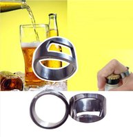 beer for cooking - Creative Gift Stainless Steel Finger Ring Ring shape Beer Bottle Opener For Beer Bar Tool Kitchen Cooking rings Factory price
