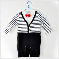 baby sleepsuits - baby romper boy s romper set romper children gentleman sleepsuits blue pink baby clothing