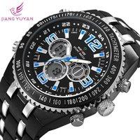 Luxury Men's Water Resistant WEIDE military watches men luxury brand watch silicone strap wristwatch digital analog Japan movement
