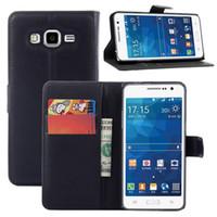 Precio de Teléfonos celulares casos de cuero-Para Samsung Galaxy Grand Prime G5308 G530 Proteger el caso Litchi Skin Flip Cartera Funda de Cuero con Soporte de Soporte Tarjeta de la cubierta de la caja del teléfono celular