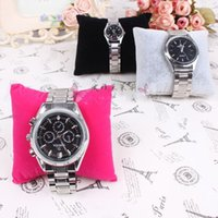 watch display stand - 8CM CM CM Velvet pillow Jewelry Watch Display Holder Jewelry Bracelets Bangle displays stand mixed color order