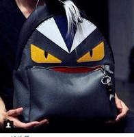 Wholesale Little Monster Women Backpack Colors PU Leather Men Backpack Girls Bags Girls Backpacks Childrens Bags Kids School Bags Fashion Bag