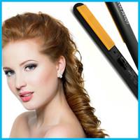 "Cheap Hairstyling Flat Iron Pro 1"" Ceramic Ionic Tourmaline Flat Iron Hair Straightener Brushes with Retail Box"