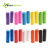 Wholesale RockBros Soft Durable Rubber Bicycle Cycling Fixed Gear Fixie Grips MTB Mountain Bike Handlebar Grips Cycle Parts Color