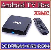 Wholesale 50pcs tr Original M8 M8N XBMC13 Kodi14 Amlogic S802 Android TV Box GB GB Quad Core XBMC TV Box Android K G G Dual WiFi TV