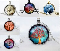 photo glass - 2015 Fashion Wisedom silver Tree Pendant Necklace Art Photo Vintage Glass Cabochon colares Choker Statement Necklace For Women