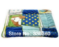 Wholesale New Winter Pet Dog Kennel Mat Double Layer Thickening Coral Fleece Warm Soft Blanket Size S M L