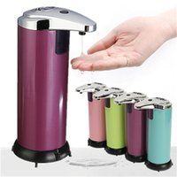 Wholesale Colorful Stainless steel Automatic Sensor Soap Sanitizer Lotion Dispenser Handsfree Touch free Kitchen Bathroom order lt no track