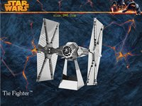 Wholesale DIY D Models Star wars ATAT Tie Fighter Kits Metallic Nano Puzzle no glue required For adult and kids Chirstmas gift