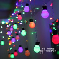 christmas lights and decorations - 4m m Xmas Led Curtain String Lights Les Icicle and Globe Bulbs Wedding Party Holiday Christmas Decoration Fairy Lamp