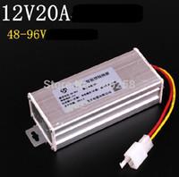 Cheap Electric Bike Converter Adapter to Voltage Transformer DC 96V 72V 64V 60V 48V TO 12V 20A Current