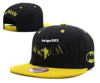 Wholesale 2014 Hot Sale batman Snapback Baseball Hat Hip Hop trucker sun cap Adjustable Bone Fashion Hat Superhero cap